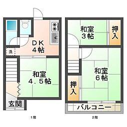 [テラスハウス] 兵庫県神戸市垂水区泉が丘5丁目 の賃貸【兵庫県 / 神戸市垂水区】の間取り