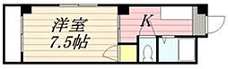 合川コーポ[301号室]の間取り