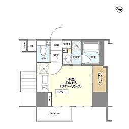 東京メトロ南北線 麻布十番駅 徒歩11分の賃貸マンション 7階ワンルームの間取り