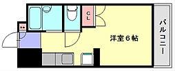 井尻コスモビル[3階]の間取り