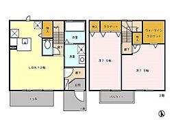 [テラスハウス] 東京都小平市上水本町1丁目 の賃貸【/】の間取り