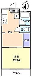 美和荘[1階]の間取り