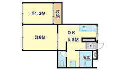 タナビキビル[3階]の間取り