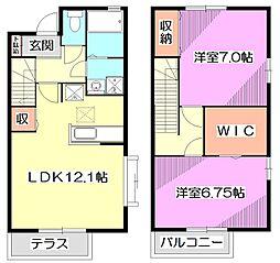[テラスハウス] 東京都練馬区南大泉6丁目 の賃貸【/】の間取り