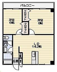 レジデンス横浜鶴見[403号室]の間取り