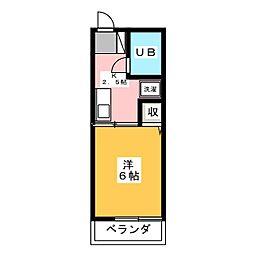 レトア2[2階]の間取り