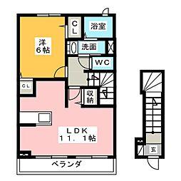 クレマチス C棟[2階]の間取り