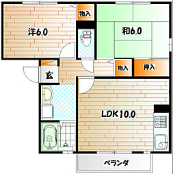 シサーラ A棟[1階]の間取り