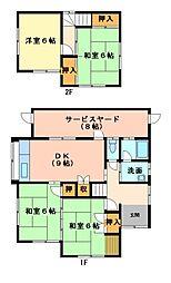 [一戸建] 三重県津市片田新町 の賃貸【/】の間取り