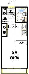 アメニティ峰岡II[2階]の間取り