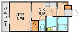 ケイズエクシード[1階]の間取り