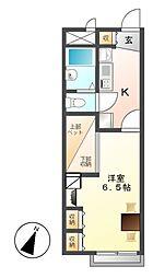 レオパレス三ツ屋[1階]の間取り