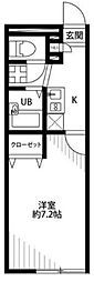 埼玉県さいたま市南区鹿手袋3丁目の賃貸アパートの間取り
