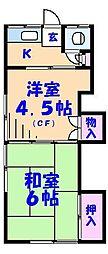 第二清和荘[15号室]の間取り