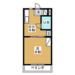 コートフレーベル[2階]の間取り