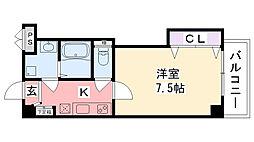 クレールメゾン小松[206号室]の間取り