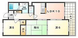 メゾンクリサンテーム[2階]の間取り