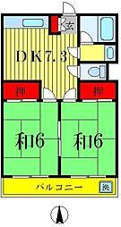 アメニティメゾン水元[3階]の間取り