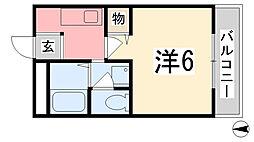 ハビテーション今宿[202号室]の間取り
