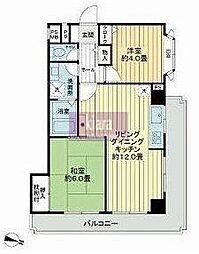 ライオンズマンション杉田[2階]の間取り