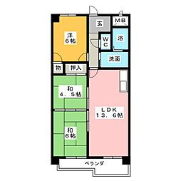大法ビル[6階]の間取り