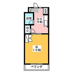 マンションオアシスII[2階]の間取り