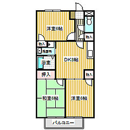 愛知県名古屋市中川区大当郎3丁目の賃貸アパートの間取り