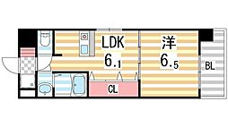 ジャルダン学研住道[601号室]の間取り
