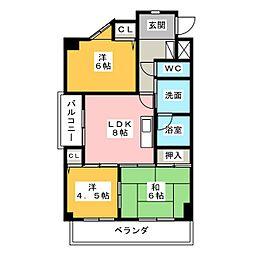 パラティーノ井東[5階]の間取り