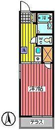 埼玉県さいたま市南区南浦和2丁目の賃貸アパートの間取り
