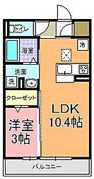 仮)D−room中成沢町[102号室]の間取り