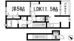 上ヶ原九番町アパート[2階]の間取り