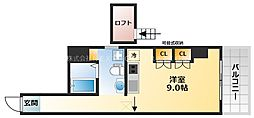 スタジオアパートメントWK 3階ワンルームの間取り