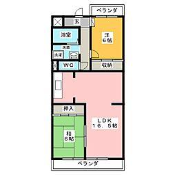 ピュア五反田[3階]の間取り
