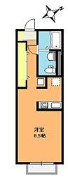ルナハイツ[1階]の間取り
