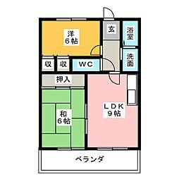 ハイツ37[2階]の間取り