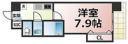 Osaka Metro千日前線 今里駅 徒歩3分の賃貸マンション 2階1Kの間取り