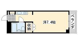 ロンネスト WAVE HOUSE[302号室]の間取り