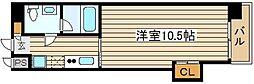 Wタワー江戸堀[5階]の間取り