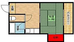 アパルトロゼ[2階]の間取り