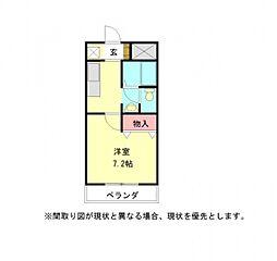 愛知県小牧市外堀3丁目の賃貸マンションの間取り