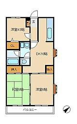 ベル・ビュー松戸[3階]の間取り