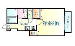 仙台市地下鉄東西線 国際センター駅 徒歩7分の賃貸アパート 1階1Kの間取り