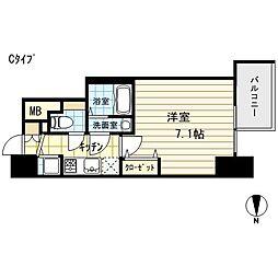 エスライズ御堂筋本町[15階]の間取り