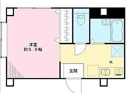 東京都板橋区常盤台4丁目の賃貸マンションの間取り