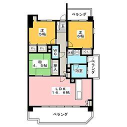 ステラートシティ桜山[5階]の間取り