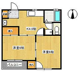ビューラーカミヤマS-1[2階]の間取り