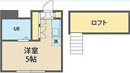 神奈川県相模原市南区大野台4丁目の賃貸アパートの間取り