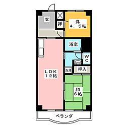 エルカーサII[3階]の間取り