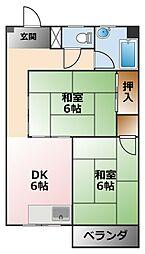 サン甲子園[3階]の間取り